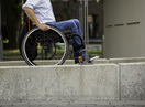 Wheelchair on a ramp